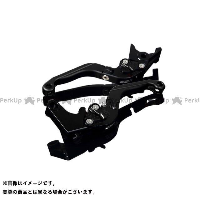 SSK GSX-R600 GSX-R750 アルミビレットアジャストレバーセット 可倒延長式(レバー本体:マットブラック) アジャスター:マットブラック エクステンション:マットブラック エスエスケー