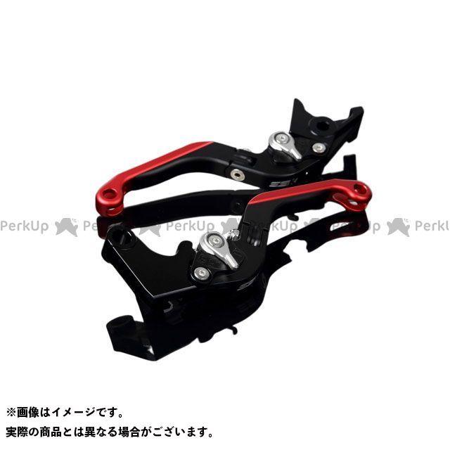 【特価品】SSK GSX-R600 GSX-R750 アルミビレットアジャストレバーセット 可倒延長式(レバー本体:マットブラック) アジャスター:マットシルバー エクステンション:マットレッド エスエスケー