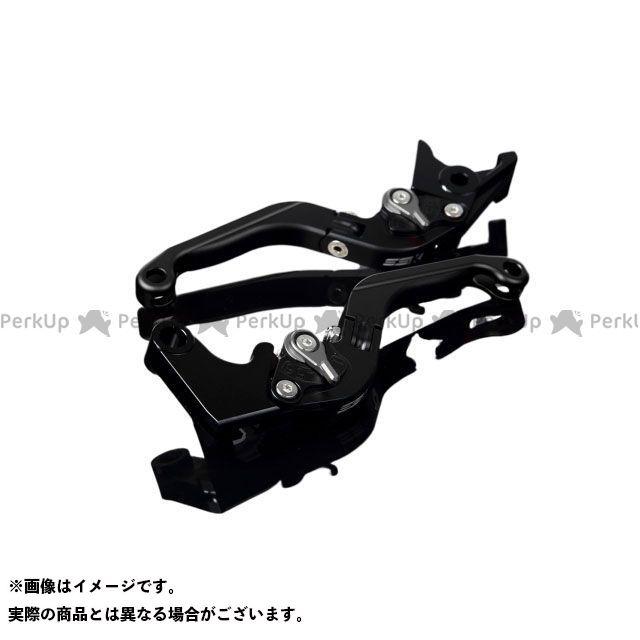 【特価品】SSK GSX-R600 GSX-R750 アルミビレットアジャストレバーセット 可倒延長式(レバー本体:マットブラック) アジャスター:マットチタン エクステンション:マットブラック エスエスケー