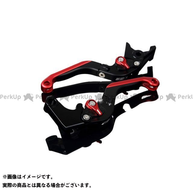 【特価品】SSK GSX-R600 GSX-R750 アルミビレットアジャストレバーセット 可倒延長式(レバー本体:マットブラック) アジャスター:マットレッド エクステンション:マットレッド エスエスケー