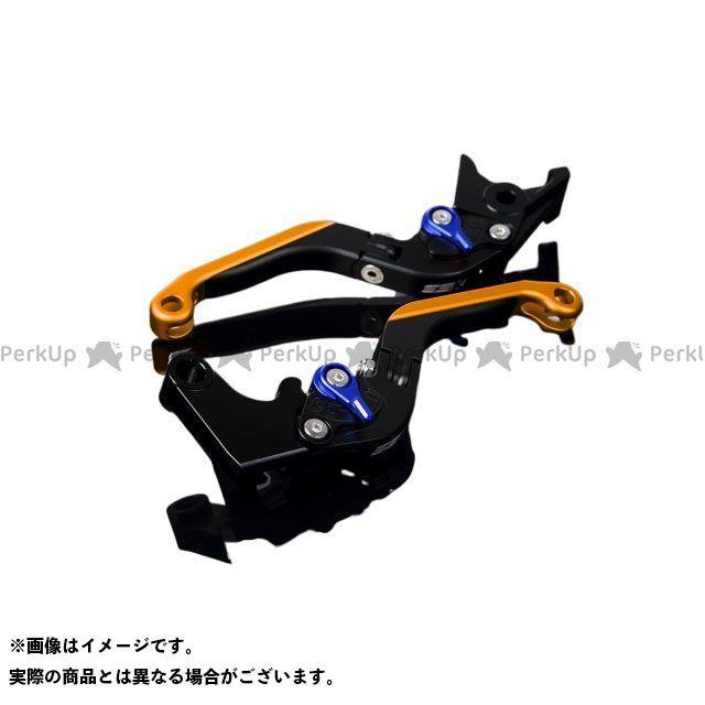 SSK GSX-R600 GSX-R750 アルミビレットアジャストレバーセット 可倒延長式(レバー本体:マットブラック) マットブルー マットゴールド エスエスケー