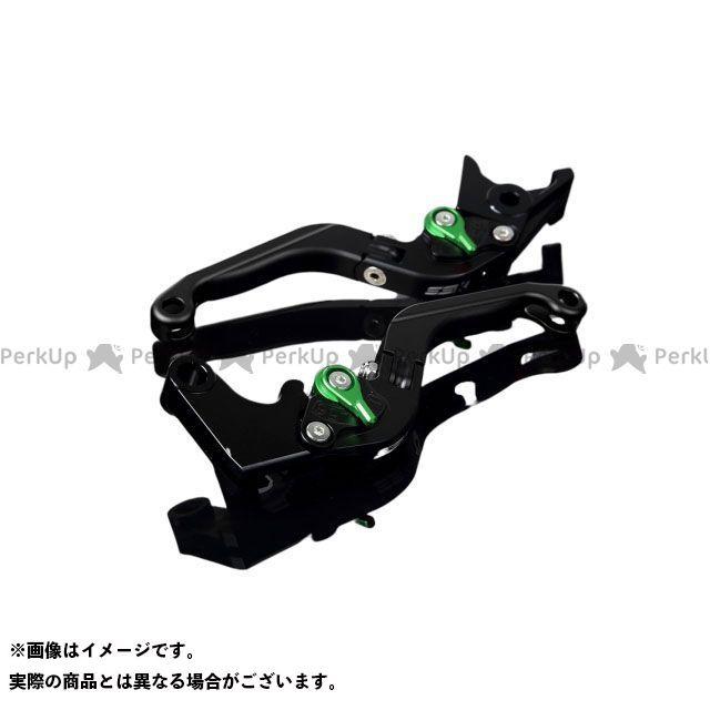 【特価品】SSK GSX-R600 GSX-R750 アルミビレットアジャストレバーセット 可倒延長式(レバー本体:マットブラック) アジャスター:マットグリーン エクステンション:マットブラック エスエスケー
