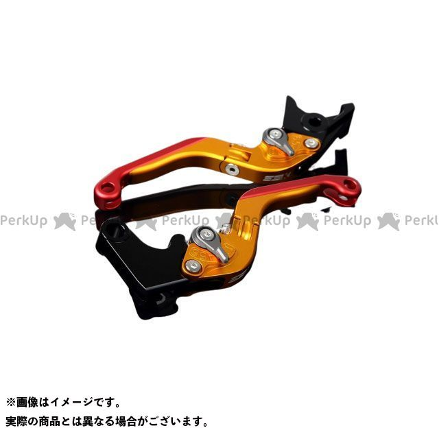 SSK GSX-R600 GSX-R750 アルミビレットアジャストレバーセット 可倒延長式(レバー本体:マットゴールド) アジャスター:マットチタン エクステンション:マットレッド エスエスケー