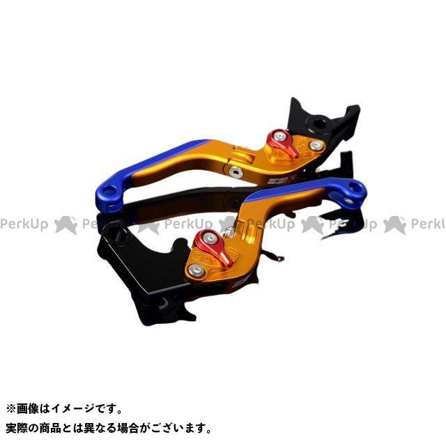 SSK GSX-R600 GSX-R750 アルミビレットアジャストレバーセット 可倒延長式(レバー本体:マットゴールド) アジャスター:マットレッド エクステンション:マットブルー エスエスケー