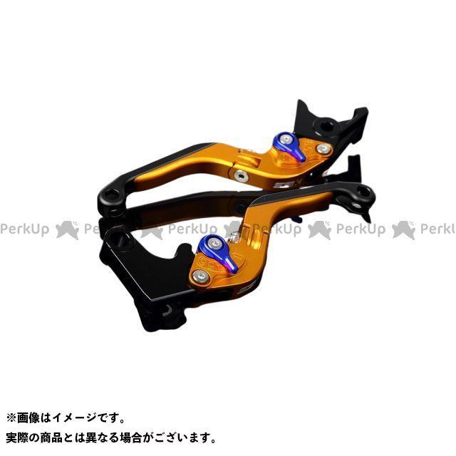 SSK GSX-R600 GSX-R750 アルミビレットアジャストレバーセット 可倒延長式(レバー本体:マットゴールド) アジャスター:マットブルー エクステンション:マットブラック エスエスケー