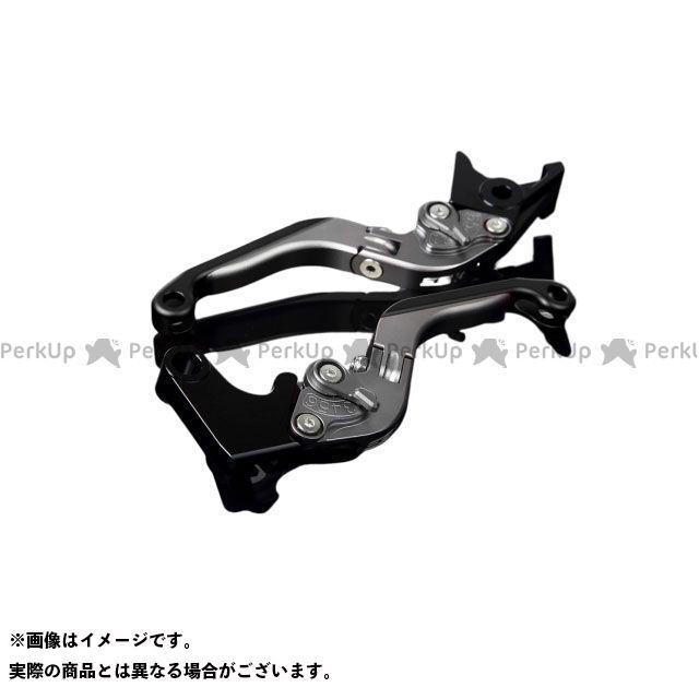 【特価品】SSK GSX-R600 GSX-R750 アルミビレットアジャストレバーセット 可倒延長式(レバー本体:マットチタン) アジャスター:マットチタン エクステンション:マットブラック エスエスケー