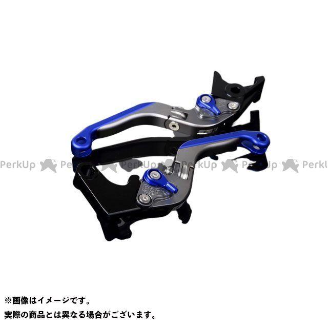 SSK GSX-R600 GSX-R750 アルミビレットアジャストレバーセット 可倒延長式(レバー本体:マットチタン) マットブルー マットブルー エスエスケー
