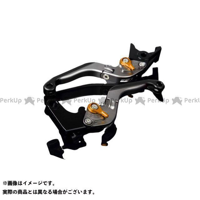 SSK GSX-R1000 GSX-R600 GSX-R750 アルミビレットアジャストレバーセット 可倒延長式(レバー本体:マットチタン) アジャスター:マットゴールド エクステンション:マットブラック エスエスケー