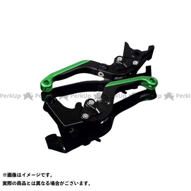 SSK S1000R S1000RR アルミビレットアジャストレバーセット 可倒延長式(レバー本体:マットブラック) アジャスター:マットブラック エクステンション:マットグリーン エスエスケー
