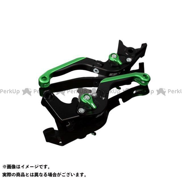 【特価品】SSK S1000R S1000RR アルミビレットアジャストレバーセット 可倒延長式(レバー本体:マットブラック) アジャスター:マットグリーン エクステンション:マットグリーン エスエスケー