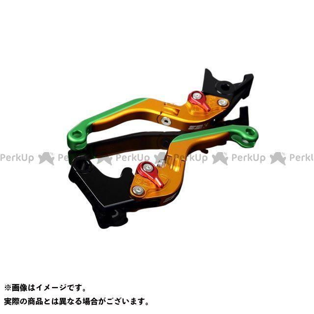SSK S1000R S1000RR アルミビレットアジャストレバーセット 可倒延長式(レバー本体:マットゴールド) アジャスター:マットレッド エクステンション:マットグリーン エスエスケー