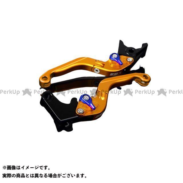 【特価品】SSK S1000R S1000RR アルミビレットアジャストレバーセット 可倒延長式(レバー本体:マットゴールド) アジャスター:マットブルー エクステンション:マットゴールド エスエスケー