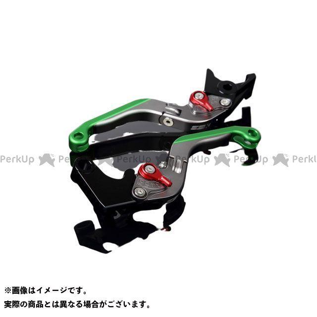 SSK デイトナ675R スピードトリプル スピードトリプルR アルミビレットアジャストレバーセット 可倒延長式(レバー本体:マットチタン) アジャスター:マットレッド エクステンション:マットグリーン エスエスケー