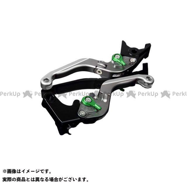 SSK デイトナ675R スピードトリプル スピードトリプルR アルミビレットアジャストレバーセット 可倒延長式(レバー本体:マットチタン) アジャスター:マットグリーン エクステンション:マットシルバー エスエスケー