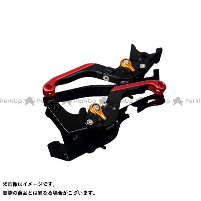 SSK RSV4ファクトリー RSV4 R アルミビレットアジャストレバーセット 可倒延長式(レバー本体:マットブラック) マットゴールド マットレッド エスエスケー