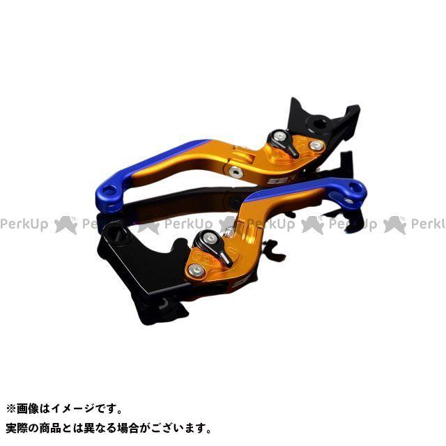 【特価品】SSK RSV4ファクトリー RSV4 R アルミビレットアジャストレバーセット 可倒延長式(レバー本体:マットゴールド) アジャスター:マットブラック エクステンション:マットブルー エスエスケー