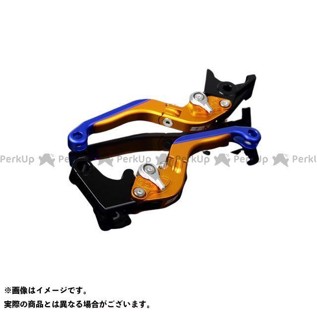 SSK RSV4ファクトリー RSV4 R アルミビレットアジャストレバーセット 可倒延長式(レバー本体:マットゴールド) アジャスター:マットシルバー エクステンション:マットブルー エスエスケー