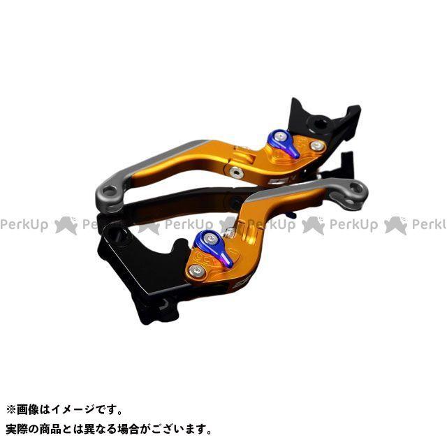 SSK RSV4ファクトリー RSV4 R アルミビレットアジャストレバーセット 可倒延長式(レバー本体:マットゴールド) アジャスター:マットブルー エクステンション:マットチタン エスエスケー