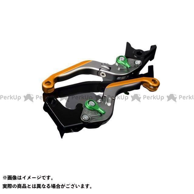 SSK RSV4ファクトリー RSV4 R アルミビレットアジャストレバーセット 可倒延長式(レバー本体:マットチタン) アジャスター:マットグリーン エクステンション:マットゴールド エスエスケー