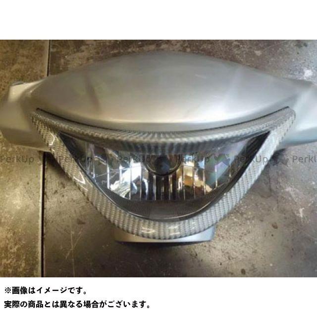 油漢 アドレスV125S V125S ヘッドライトガーニッシュ(シルバーカーボン) ユカン