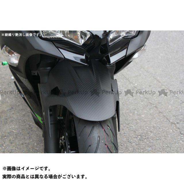 【特価品】SSK ニンジャ250 ニンジャ400 フロントフェンダー ドライカーボン 仕様:綾織り艶消し エスエスケー