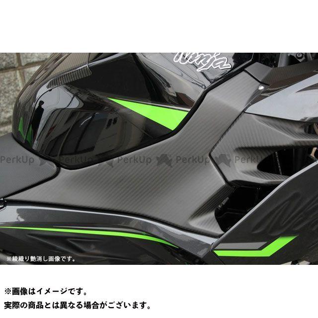 【特価品】SSK ニンジャ250 ニンジャ400 タンクサイドカバー 左右セットドライカーボン 仕様:綾織り艶消し エスエスケー