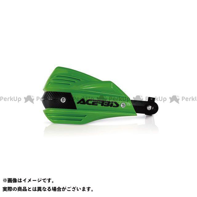 【無料雑誌付き】アチェルビス 汎用 AC-17557 X-FACTORハンドガード(グリーン) ACERBIS