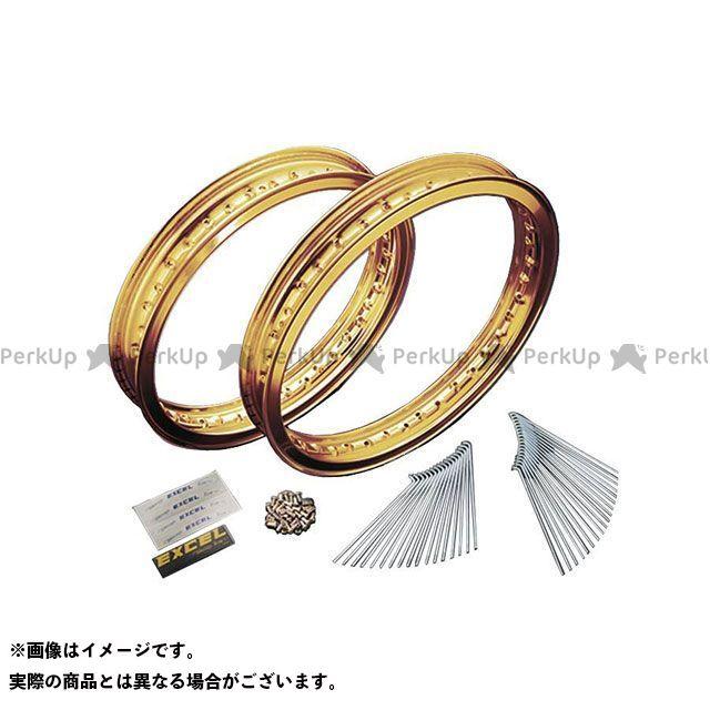 ネクサス SR400 SR500 17インチアルミリムスポークセット(ゴールド) 2.50/3.00 NEXXS