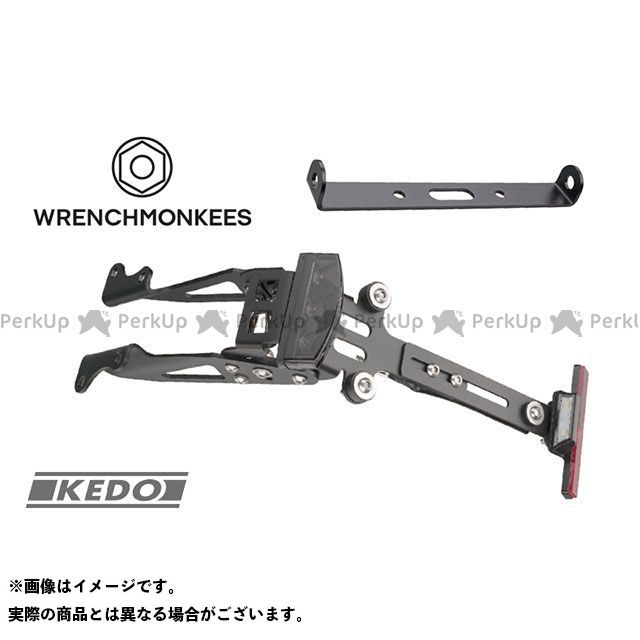 KEDO(JVB) XSR900 WRENCHMONKEES テール付ナンバープレートホルダー KEDO