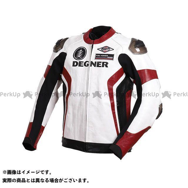 DEGNER 2019-2020秋冬モデル 19WJ-19 レザーレーシングジャケット(ホワイト/レッド) L デグナー
