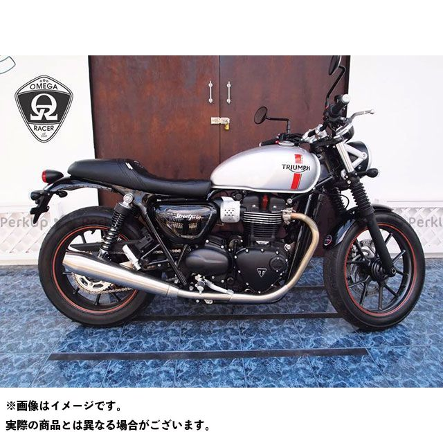 BEE TRAD StepCafe Street Twin・Bonneville T120等 水冷ボンネビル カラー:DirtyRed ゲルシート:運転席側のみ シートパターン:クロス ビートラッド