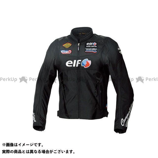 elf riding wear 2019-2020秋冬モデル EL-9247 ヴィットリアスポルトジャケット(ブラック) 3L エルフ ライディングウェア