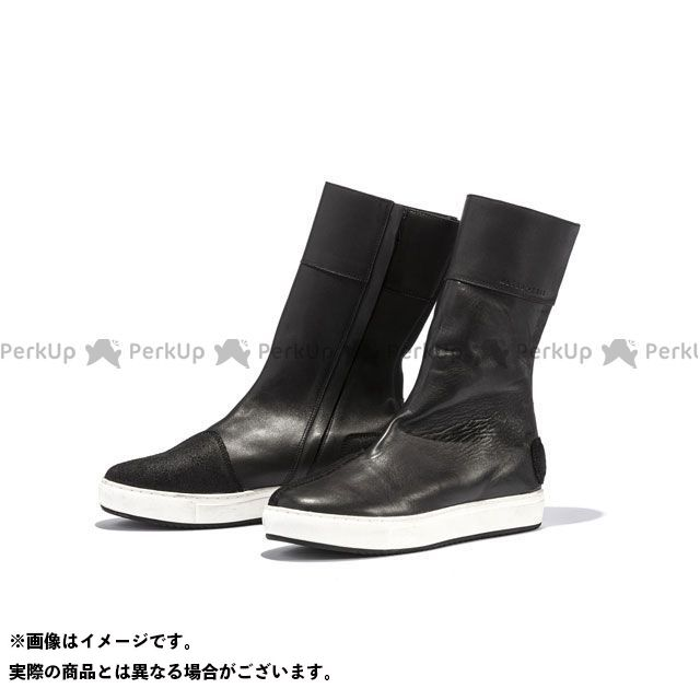 KADOYA 2019-2020秋冬モデル ALTER KEIS No.4330 LEATHER HIGH SNEAKER(ブラック/ホワイト) 25.0cm カドヤ