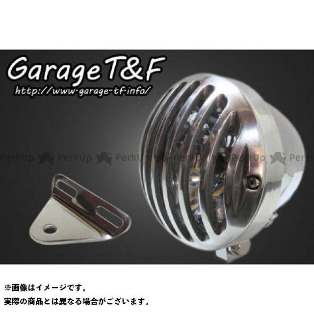 ガレージTF ガレージティーアンドエフ ヘッドライト・バルブ 電装品 ガレージTF ドラッグスター400(DS4) 4.5インチバードゲージヘッドライト&ライトステー(タイプA)キット メッキ ポリッシュ ガレージティーアンドエフ