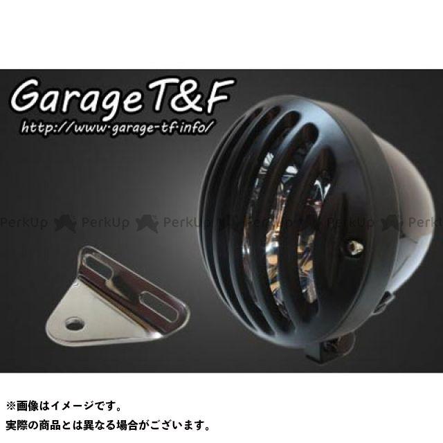 ガレージT&F ドラッグスター400(DS4) ヘッドライト・バルブ 4.5インチバードゲージヘッドライト&ライトステー(タイプA)キット ブラック ブラック