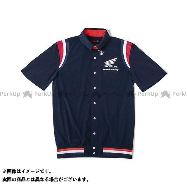 【エントリーで最大P21倍】Honda Honda×SHINICHIRO ARAKAWA 2019-2020秋冬モデル 裾リブピットシャツ SS(ネイビー) サイズ:4L ホンダ