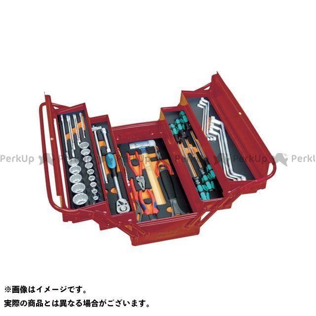TRUSCO TRUSCO ハンドツール 工具 TRUSCO インポートツールセット 44点 ワインレッド色  TRUSCO
