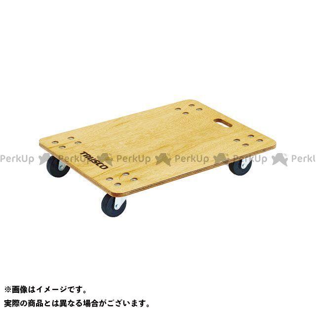 TRUSCO 合板平台車プティカルゴ 600×450 ゴム車 TRUSCO