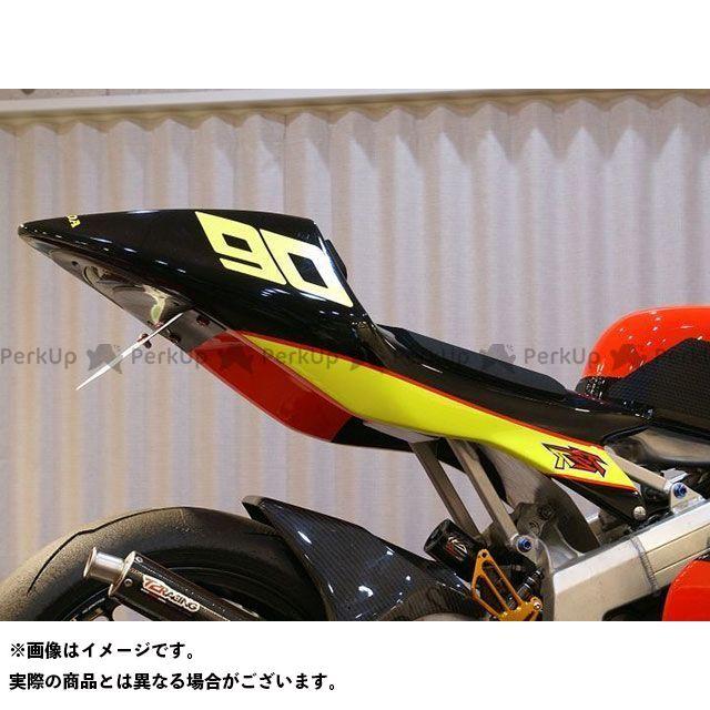 T2レーシング NSR250R MC18 シートカウル タイプ3 ストリートタイプ+黒ゲル蓋 テールユニット:クリアレンズ T2Racing