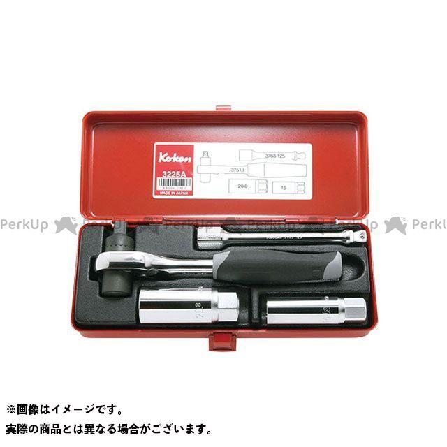【無料雑誌付き】Ko-ken 3225A 3/8(9.5mm)SQ. トルクラチェットセット 4ヶ組 Ko-ken