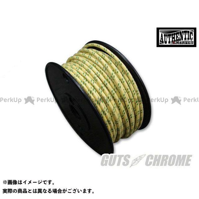 ガッツクローム クロスカバーワイヤー16ゲージ 黄X緑 1ロール GUTS CHROME