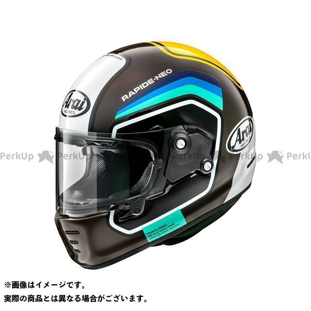アライ ヘルメット Arai フルフェイスヘルメット ヘルメット アライ ヘルメット RAPIDE NEO NUMBER(ラパイド・ネオ ナンバー) ブラウン 59-60cm メーカー在庫あり Arai