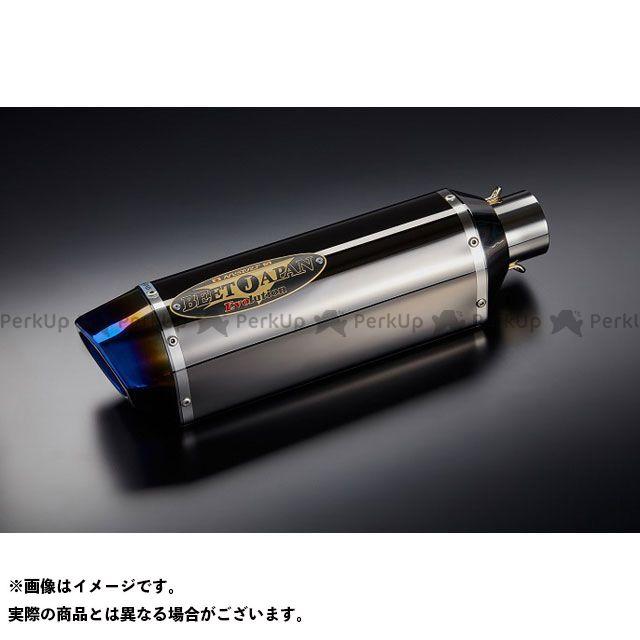 BEET 汎用 NASSERT-R Evolution Type II 汎用レーシングサイレンサー(メタルブラック) 400mm/右出し ビートジャパン
