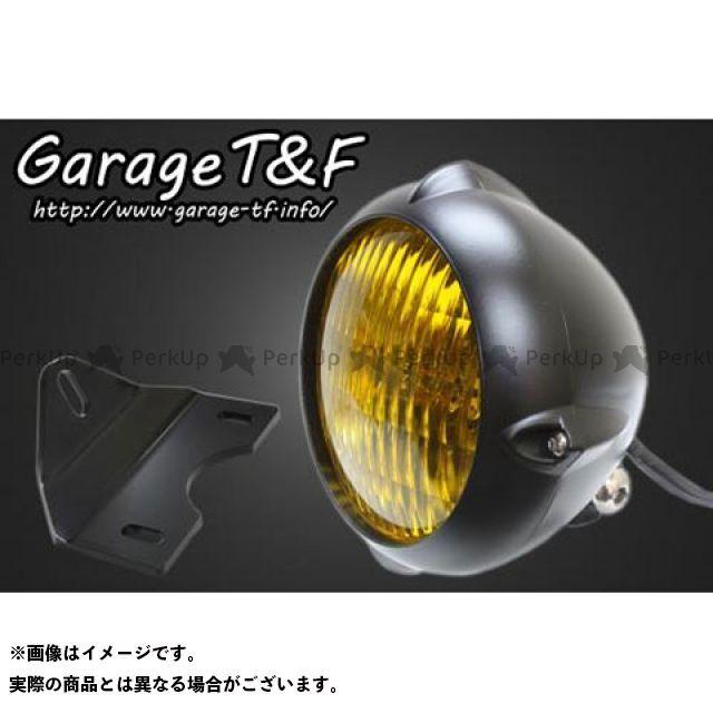 ガレージT&F エストレヤ 4.5インチビンテージライト(ブラック)&ライトステー(タイプG)キット ガレージティーアンドエフ