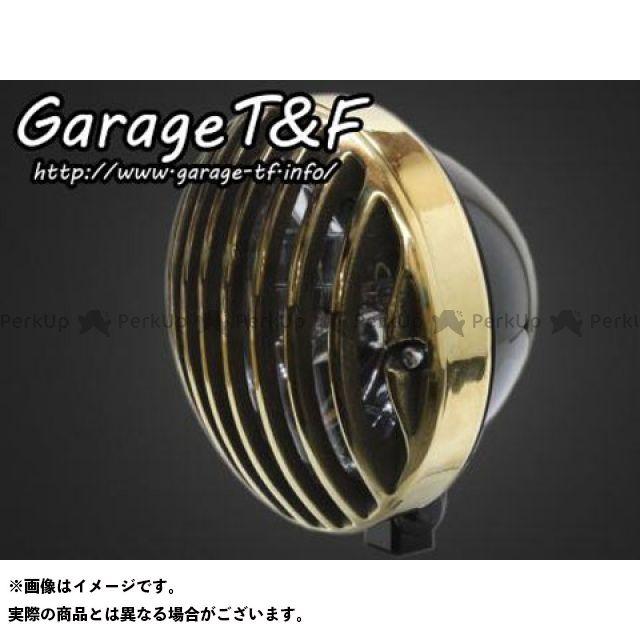 ガレージT&F 汎用 5.75インチバードゲージヘッドライト ヘッドライト:ブラック ゲージ:真鍮 ガレージティーアンドエフ