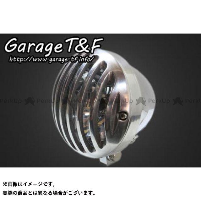 ガレージTF ガレージティーアンドエフ ヘッドライト・バルブ 電装品 ガレージTF 汎用 4.5インチバードゲージヘッドライト メッキ ポリッシュ ガレージティーアンドエフ