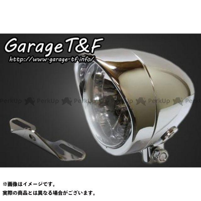 ガレージT&F イントルーダークラシック400 4インチプレーンライト(ショート)プレーンタイプ&ライトステー(タイプB)キット ガレージティーアンドエフ