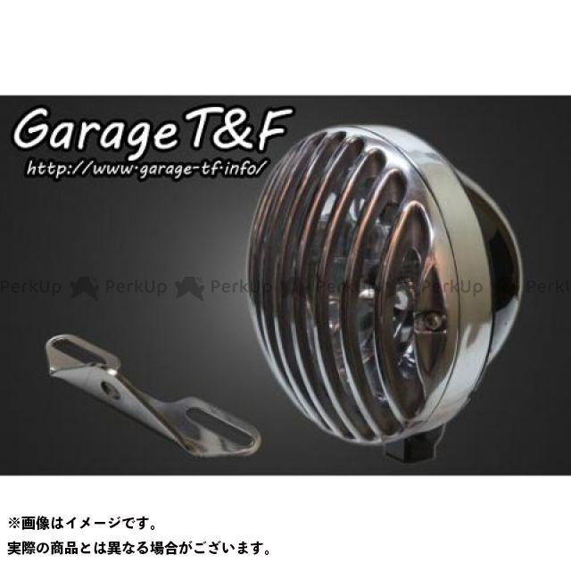 ガレージT&F イントルーダークラシック400 5.75インチバードゲージヘッドライト&ライトステー(タイプB)キット ヘッドライト:ブラック ゲージ:ポリッシュ ガレージティーアンドエフ