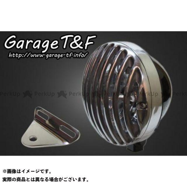 ガレージT&F Vツインマグナ 5.75インチバードゲージヘッドライト&ライトステー(タイプA)キット ヘッドライト:ブラック ゲージ:ポリッシュ ガレージティーアンドエフ