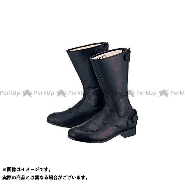 送料無料 Buggy バギー ライディングブーツ ふくらはぎサイズ対応ツーリングブーツ(黒) L 25.0cm